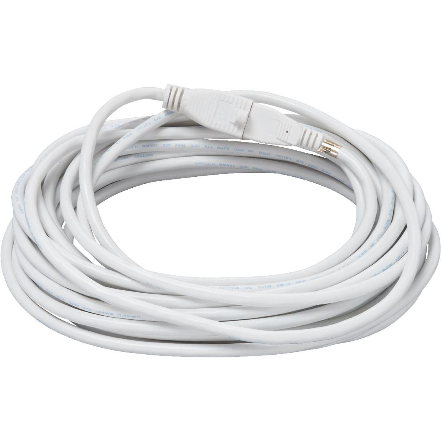 Do it Best 40 Ft. 16/3 Medium-Duty White Patio Extension Cord Image 2