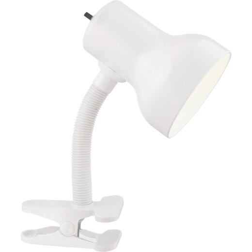 Satco 60W White Clip-On Lamp