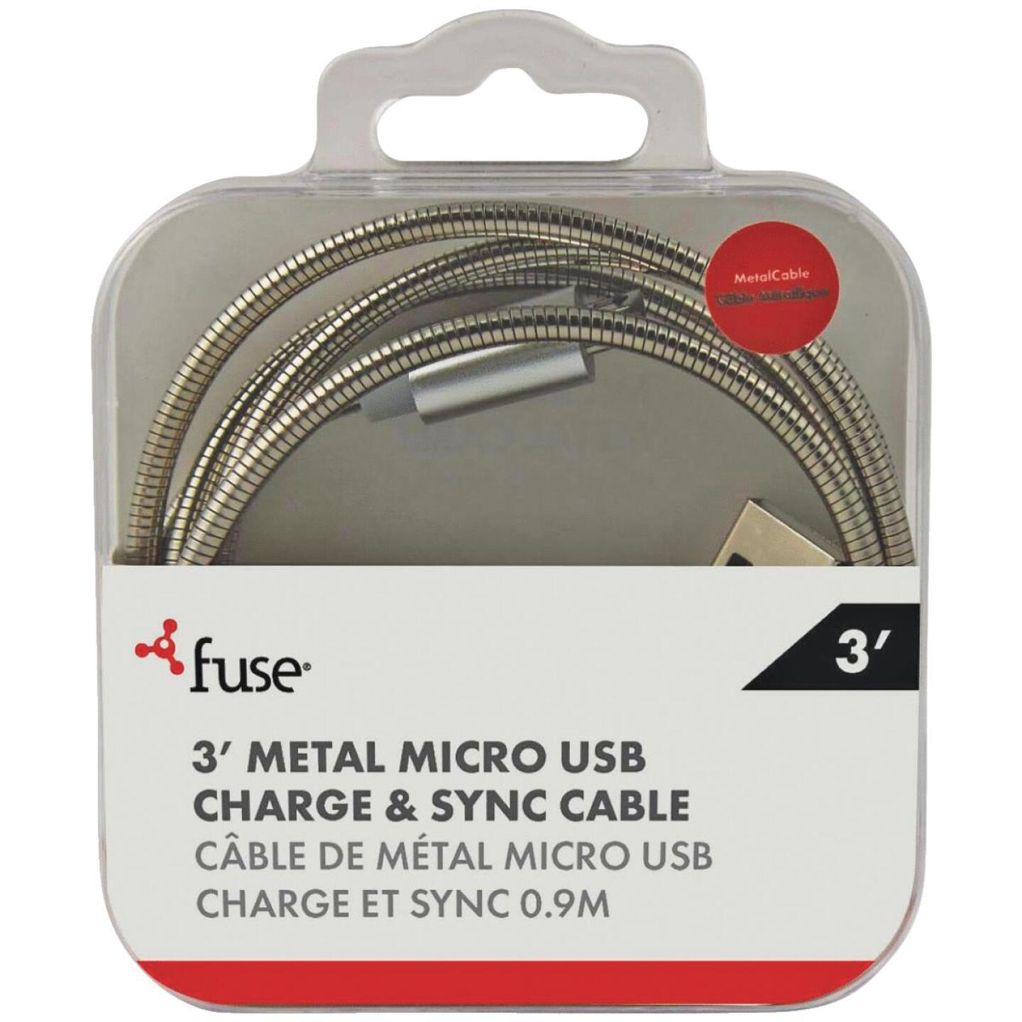 Fuse 3 Ft. Metal Micro USB Charging & Sync Cable Image 1