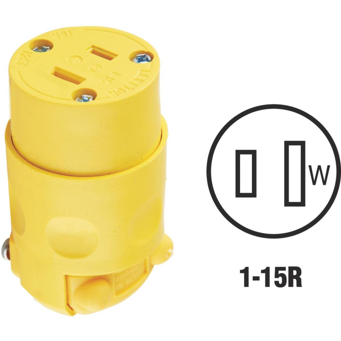 Leviton 15A 125V 2-Wire 2-Pole Residential Grade Cord Connector Image 1