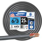 Romex 25 Ft. 6-3 Stranded Black NMW/G Wire Image 1