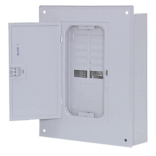 Square D Homeline 100A 12-Space 24-Circuit Indoor Main Breaker Plug-on Neutral Load Center