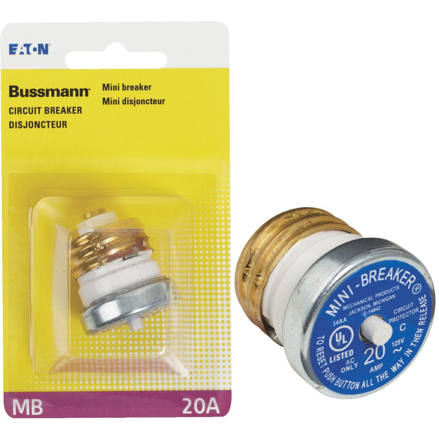 Bussmann 20A 125V Time-Delay Mini-Breaker Image 1