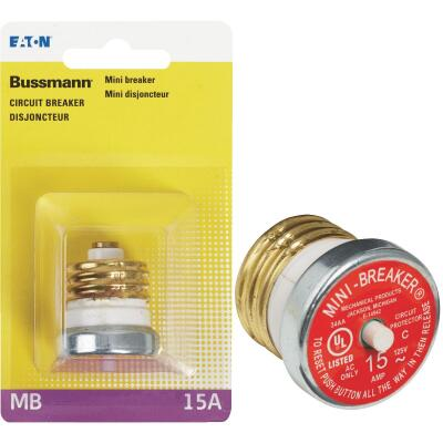 Bussmann 15A 125V Time-Delay Mini-Breaker