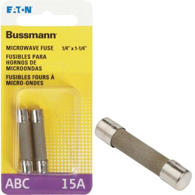 Bussmann 15A ABC Ceramic Tube Electronic Fuse (2-Pack)