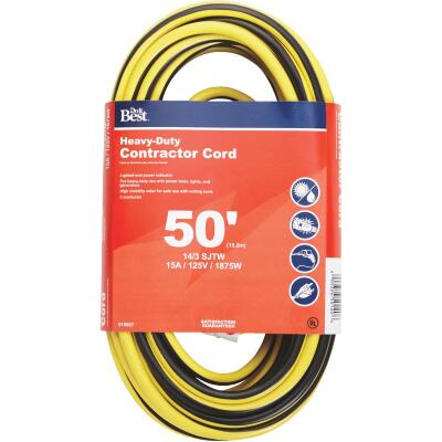 Do it Best 50 Ft. 14/3 Heavy-Duty Contractor Extension Cord