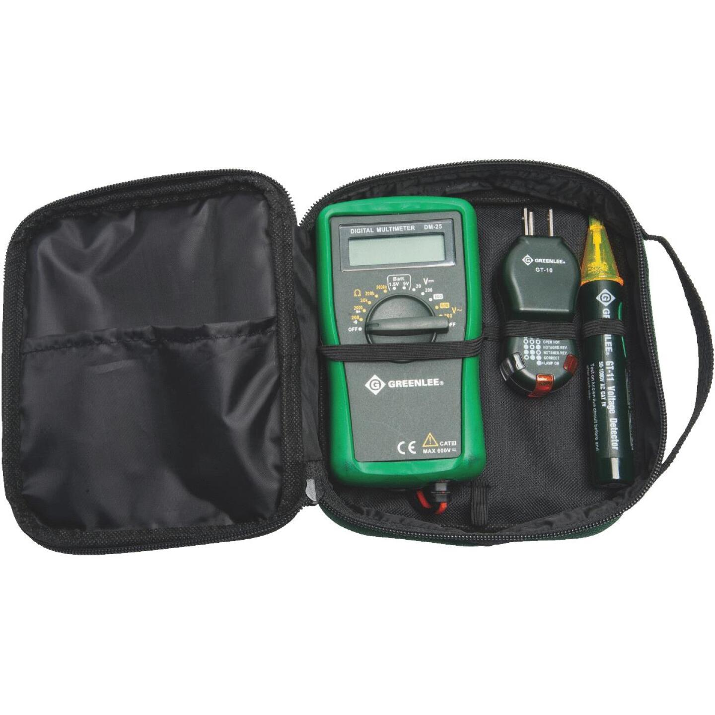 Greenlee 3-Piece Multimeter Test Kit with Case Image 1