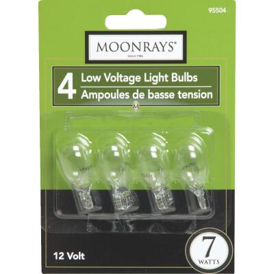 Moonrays 7W Clear T5 Wedge Base Landscape Low Voltage Light Bulb (4-Pack)