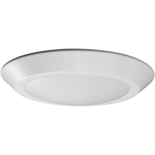 Satco Nuvo 10 In. White 610-Lumen LED Disk Flush Mount Light Fixture