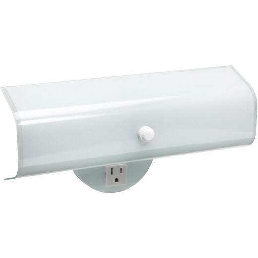 Home Impressions 2-Bulb White Wall Light Fixture