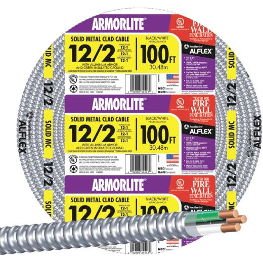 Southwire 100 Ft. 12/2 MC Armored Cable