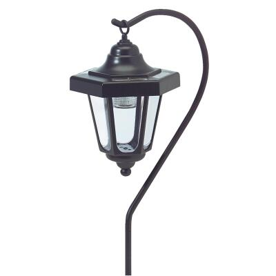 Outdoor Expressions Black 2.10 Lumens Plastic Hanging Solar Path Light