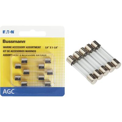 Bussmann 1A/2A/3A AGC Glass Tube Electronic Fuse (5-Pack)