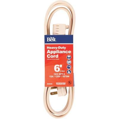 Do it Best 6 Ft. 14/3 15A Heavy-Duty Appliance Cord