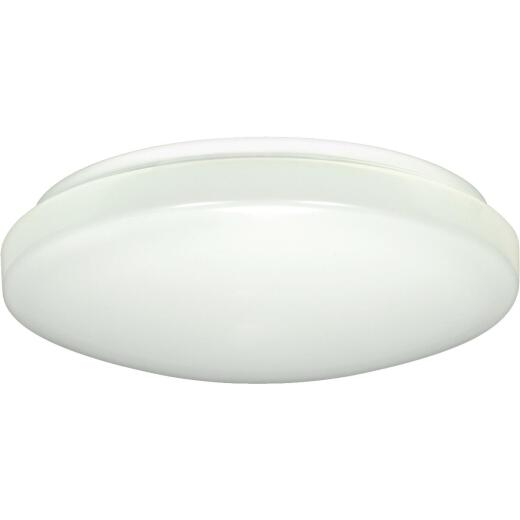 Satco Nuvo 14 In. White 1300-Lumen LED Flush Mount Light Fixture