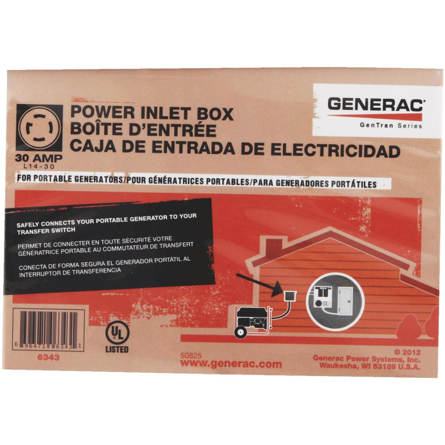 Generac 30A Outdoor Generator Power Inlet Box Image 2