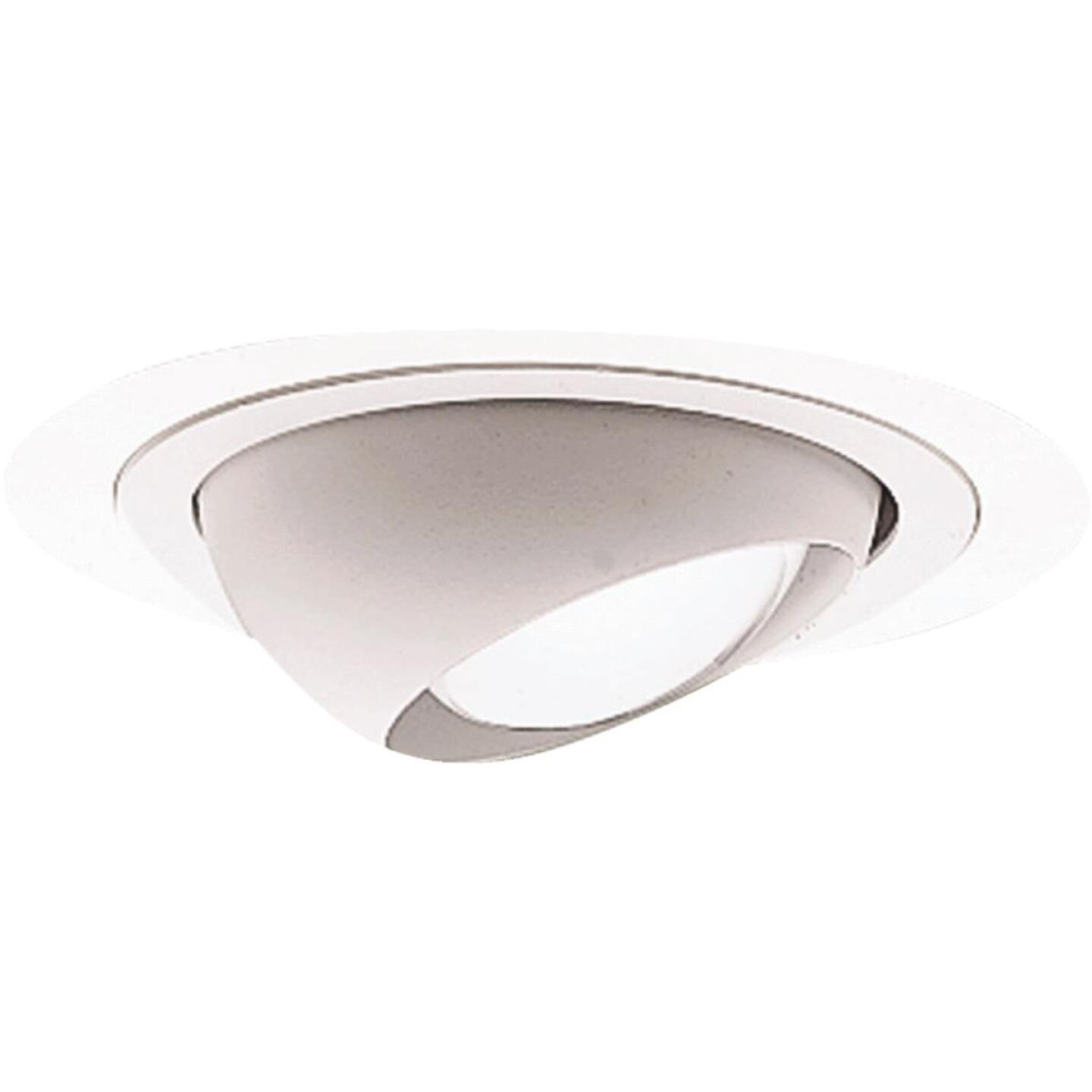 Halo 4 In. White Eyeball Recessed Fixture Trim Image 1