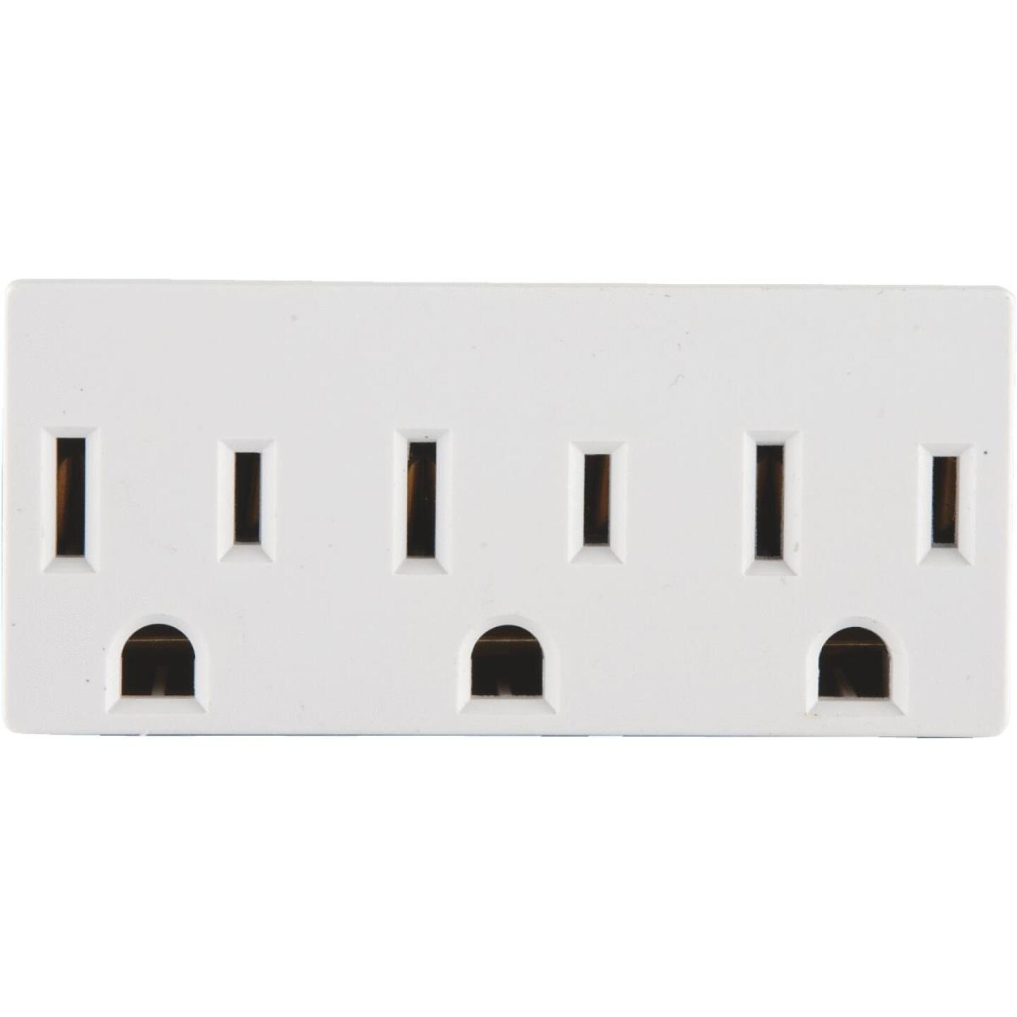 Leviton White 15A 3-Outlet Tap Image 2