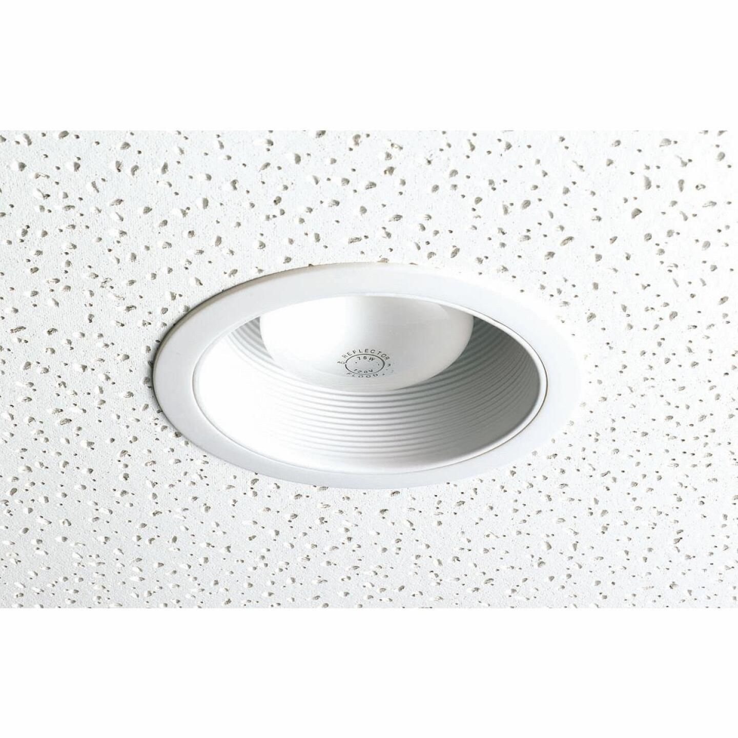 Thomas 6 In. White Trim w/White Step Baffle Recessed Fixture Trim Image 1