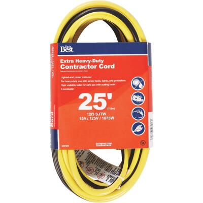 Do it Best 25 Ft. 12/3 Extra Heavy-Duty Contractor Extension Cord