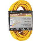Coleman Cable Polar Solar 50 Ft. 12/3 Cold Weather 3-Outlet Extension Cord Image 1