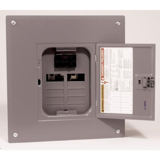 Square D Homeline 100A 8-Space 16-Circuit Indoor Main Breaker Plug-on Neutral Load Center
