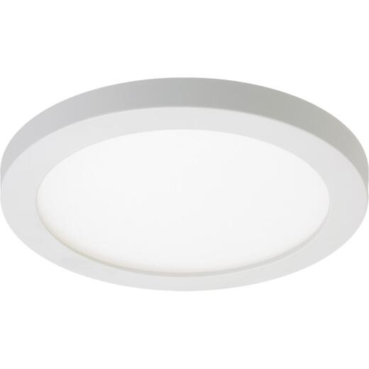 Halo 4 In. Round Retrofit IC/Non-IC Rated White Surface Mount LED Recessed Light Kit, California Rated