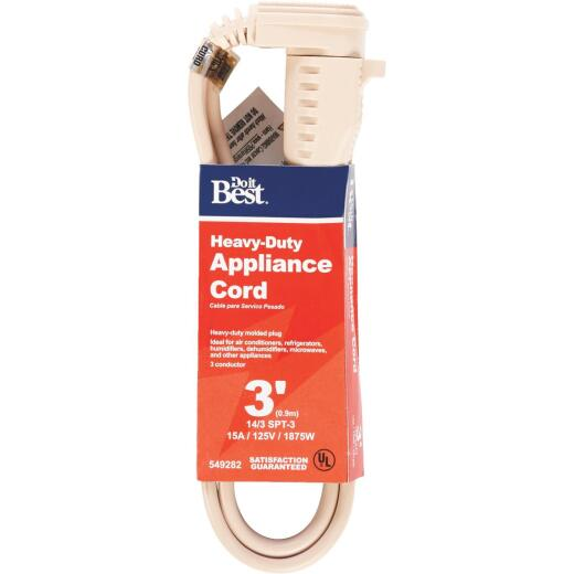Do it Best 3 Ft. 14/3 15A Heavy-Duty Appliance Cord