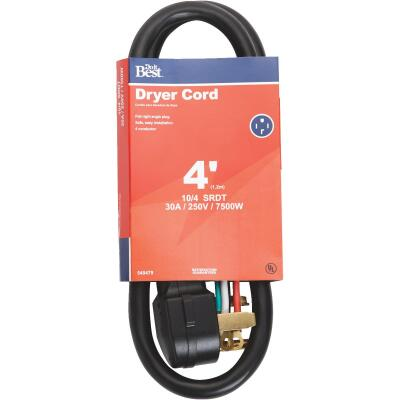 Do it Best 4 Ft. 10/4 30A Dryer Cord