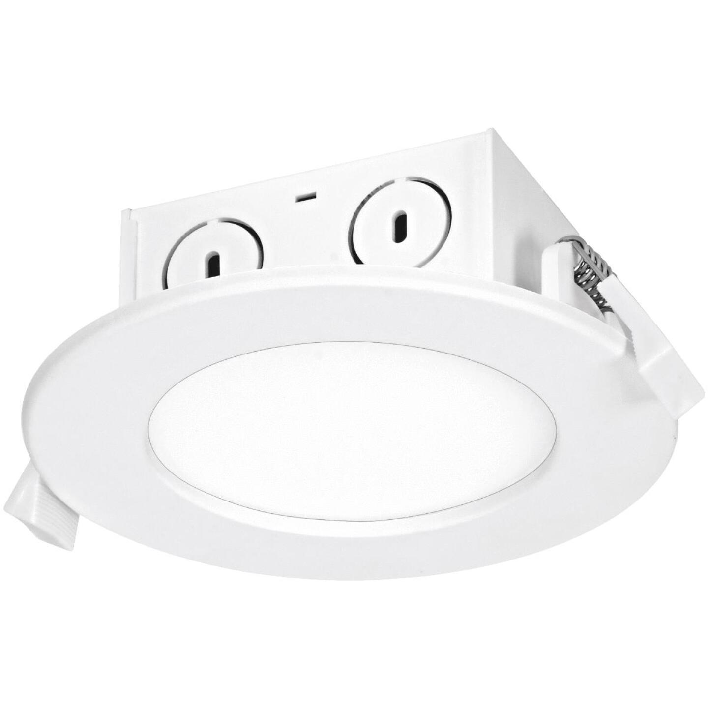 Satco 4 In. Direct Wired IC Rated White 4000K LED Recessed Light Kit Image 1