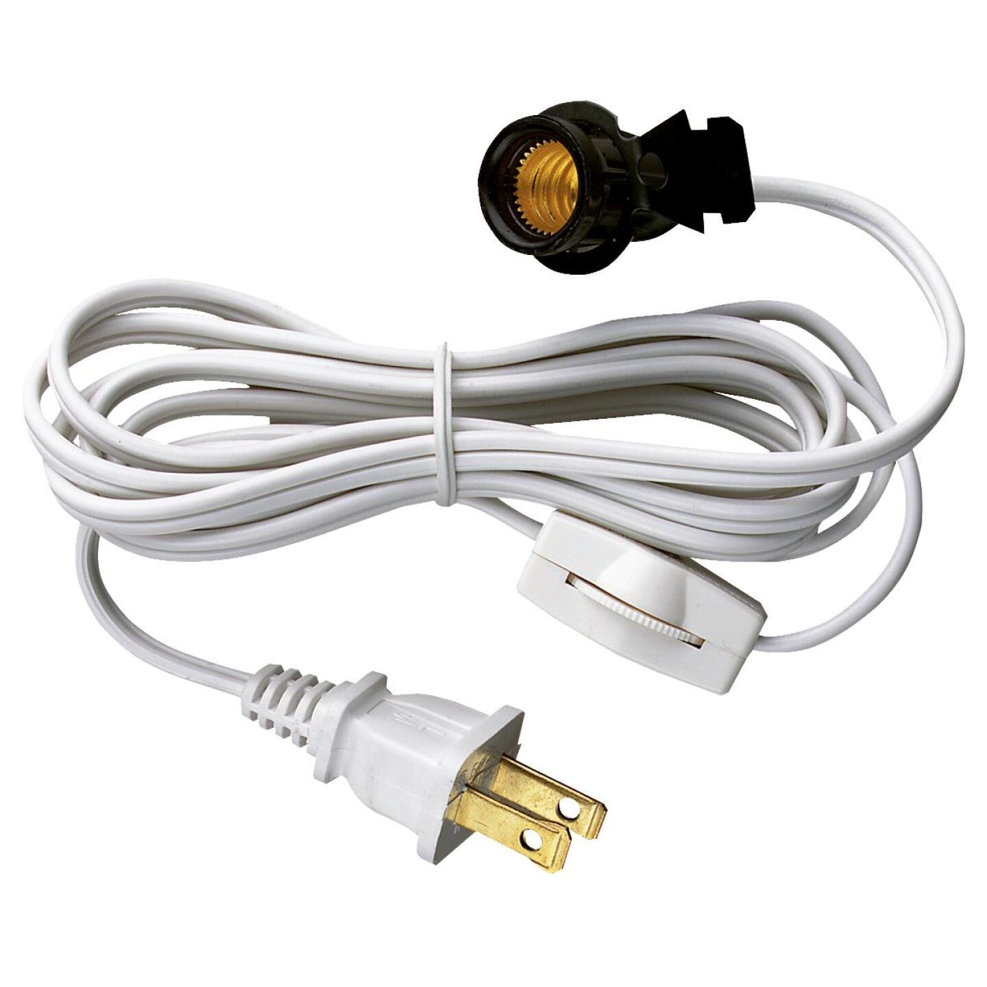 Westinghouse 6 Ft. 18 Ga. White Replacement Lamp Cord with Switch Image 1