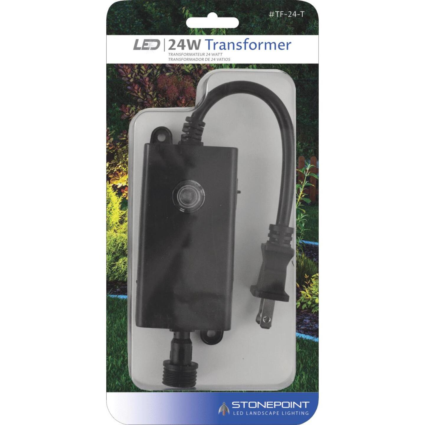 Stonepoint LED Lighting 24W Dusk to Dawn Outdoor Low Voltage Lighting Transformer Image 1