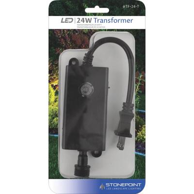 Stonepoint LED Lighting 24W Dusk to Dawn Outdoor Low Voltage Lighting Transformer