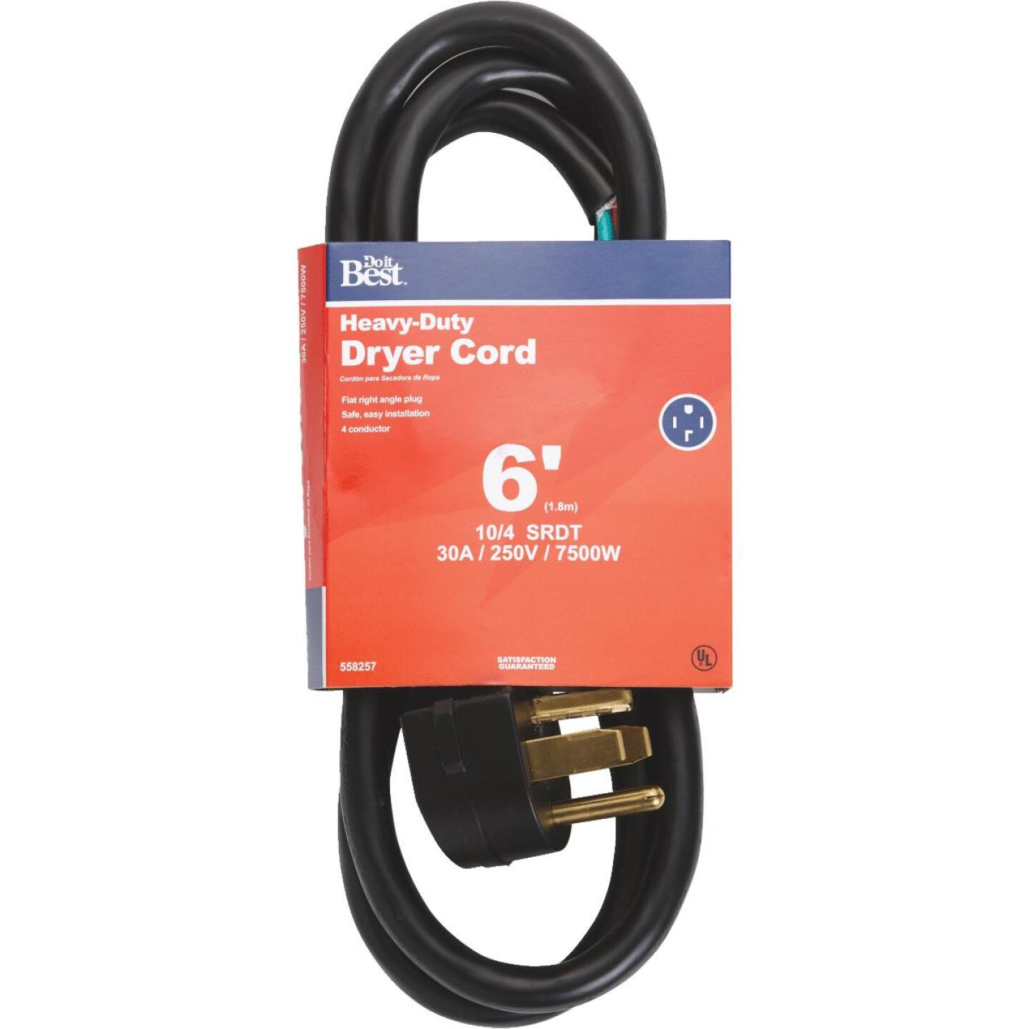 Do it Best 6 Ft. 10/4 30A Dryer Cord Image 1
