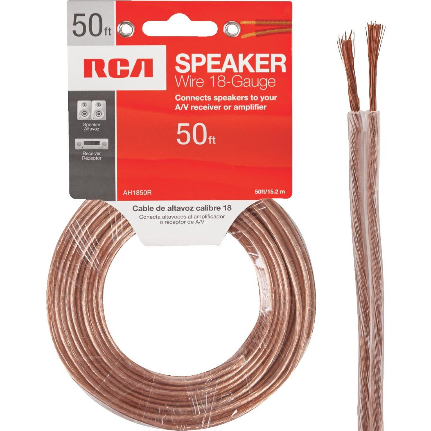 RCA 50 Ft. 18-2 Stranded Speaker Wire Image 1