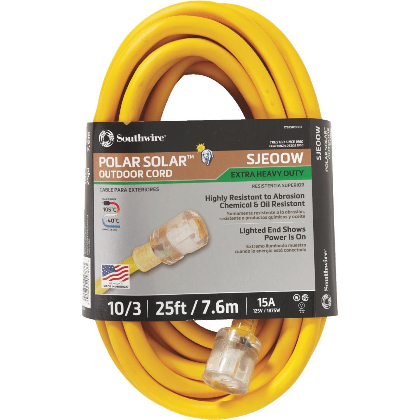 Coleman Cable 25 Ft. 10/3 Cold Weather Extension Cord Image 2