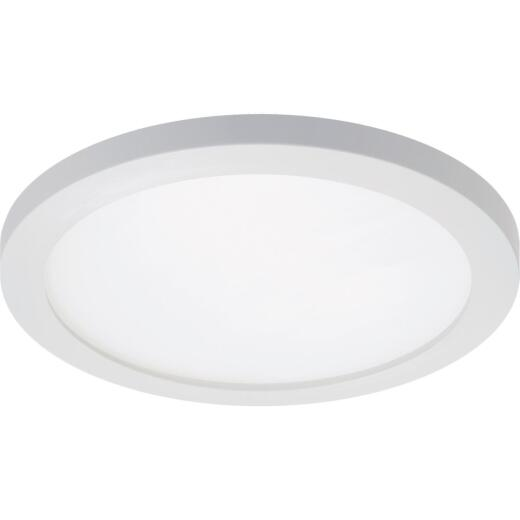 Halo 5 In./6 In. Round Retrofit IC/Non-IC Rated White Surface Mount LED Recessed Light Kit, California Rated