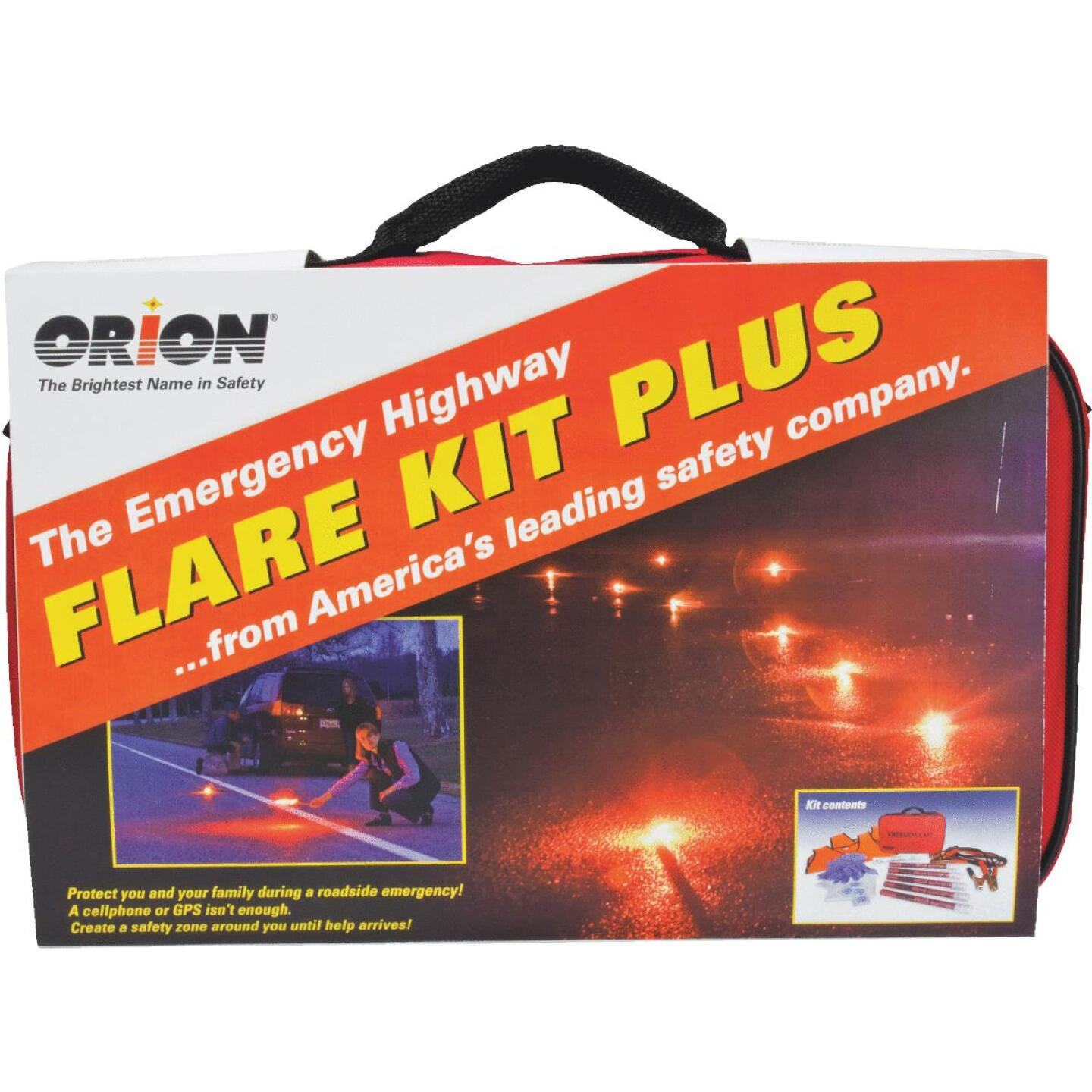Orion Flare Kit Plus Emergency Road Kit (19-Piece) Image 1