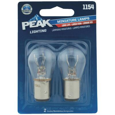 PEAK 1154 6.4/7V Mini Incandescent Automotive Bulb (2-Pack)