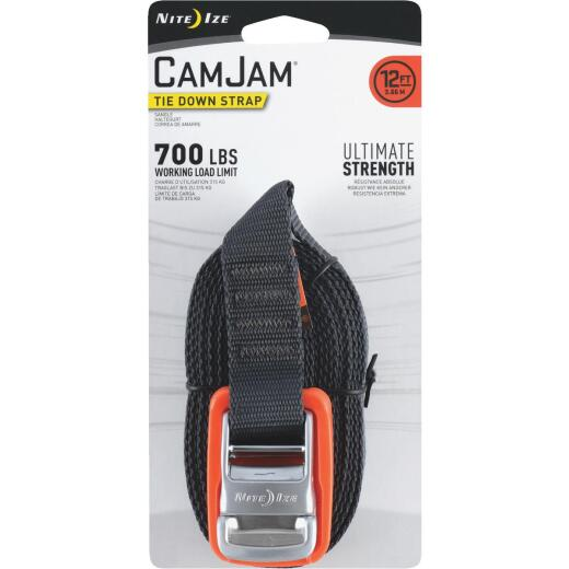 Nite Ize CamJam 1 In. x 12 Ft. 700-Lb. Working Load Limit Tie-Down Strap