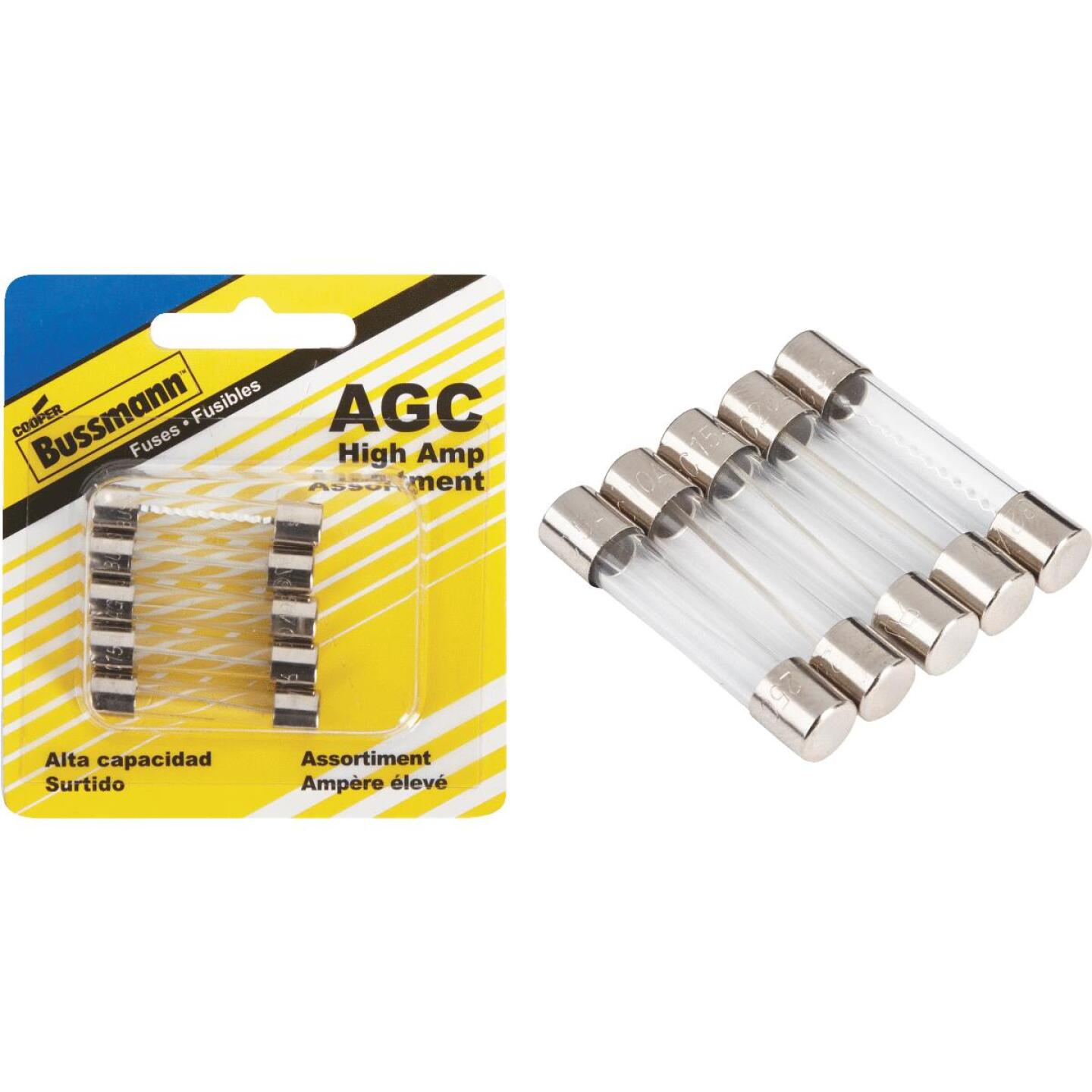 Bussmann AGC Glass Tube Fuse Assortment (5-Pack) Image 1