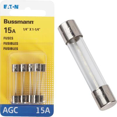 Bussmann 15-Amp 32-Volt AGC Glass Tube Automotive Fuse (5-Pack)