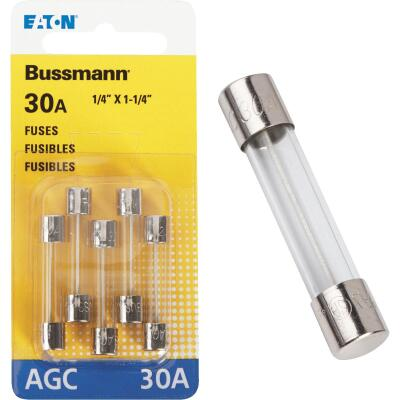 Bussmann 30-Amp 32-Volt Glass Tube Automotive Fuse (5-Pack)