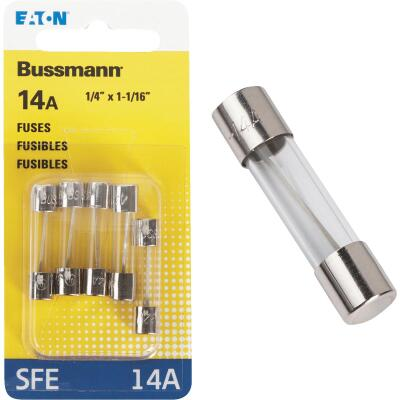 Bussmann 14-Amp 32-Volt SFE Glass Tube Automotive Fuse (5-Pack)