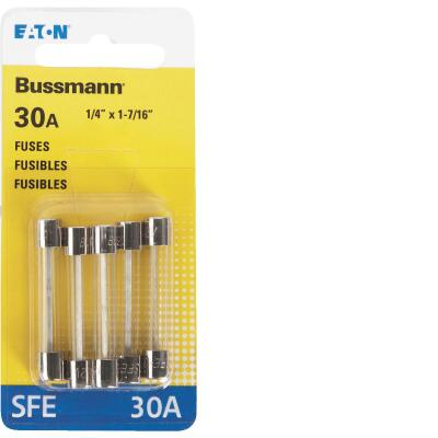 Bussmann 30-Amp 32-Volt SFE Glass Tube Automotive Fuse (5-Pack)
