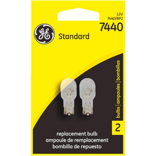GE 12V 7440 Miniature Incandescent Automotive Bulb (2-Pack)