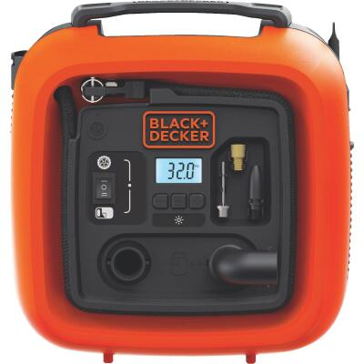 Black & Decker Air Station 12-Volt 160 psi Portable Electric Inflator