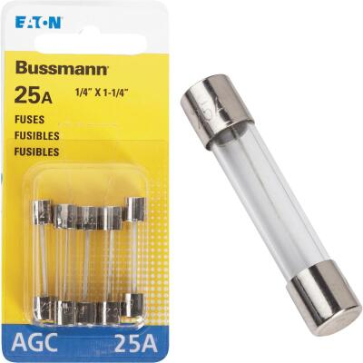 Bussmann 25-Amp 32-Volt AGC Glass Tube Automotive Fuse (5-Pack)