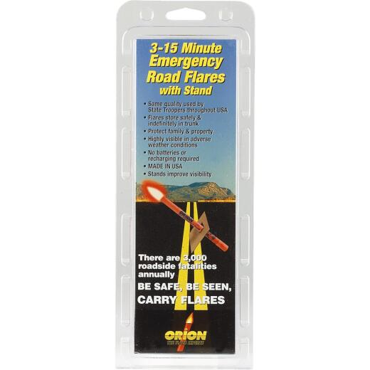 Orion Safety PlasTcap 15-Minute Flare (3-Pack)