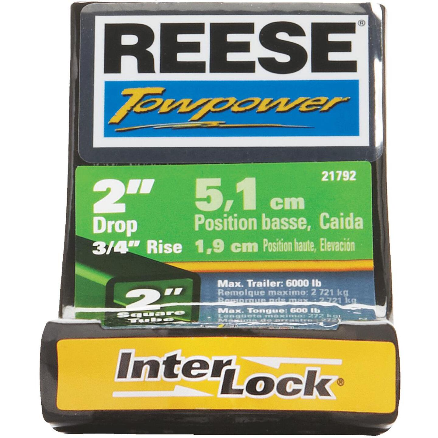 Reese Towpower 1 In. x 2 In. Drop InterLock Hitch Draw Bar Image 2